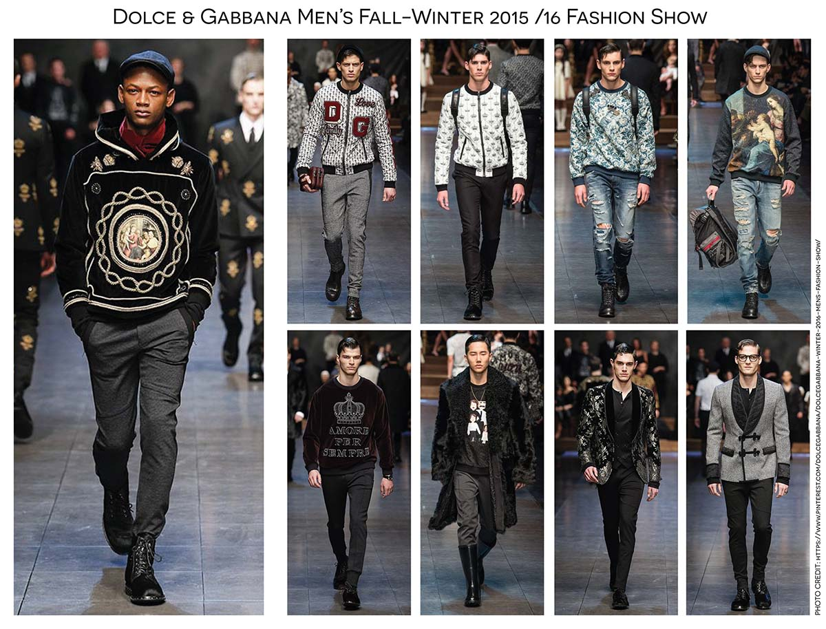Dolce   Gabbana Mens Fall Winter 15-16 Fashion Show by Paola Cas a308efb5259