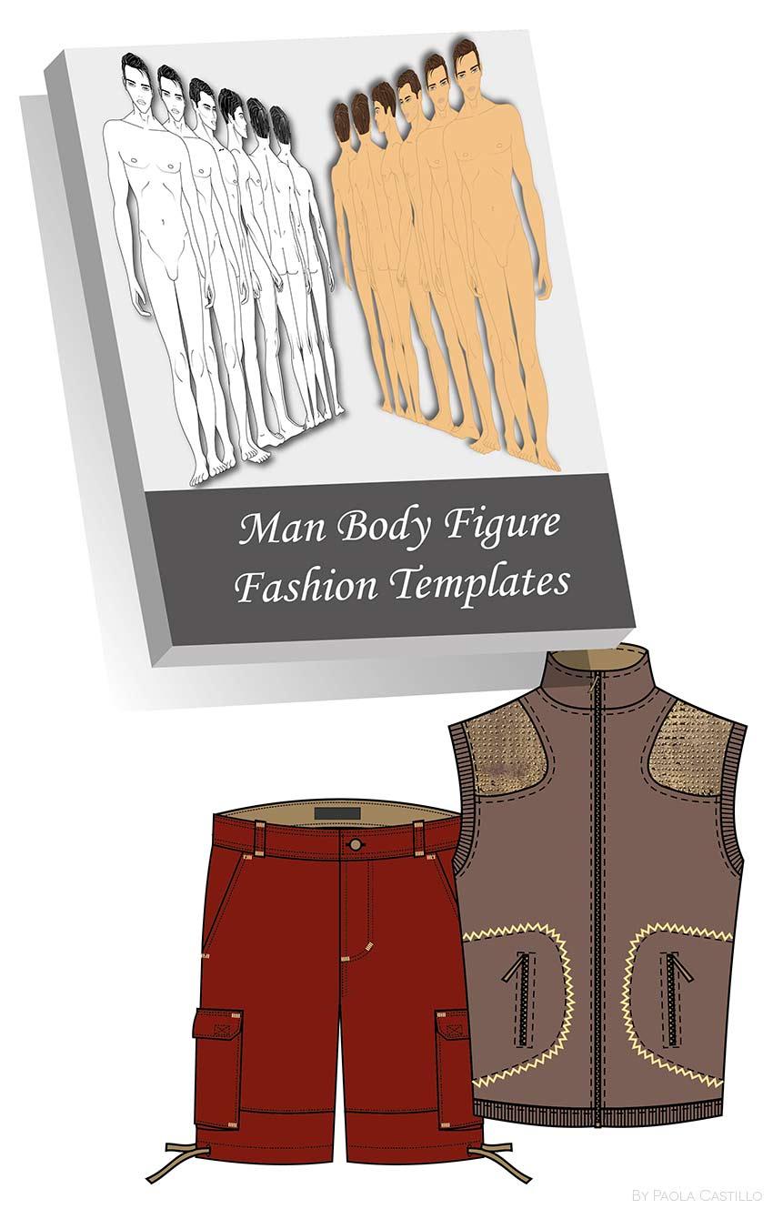 Plantillas de figurines masculinos en vectores (listas para editar e ...
